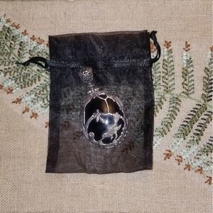 3/$10 Vintage Hummingbird Flowers Necklace Pendant